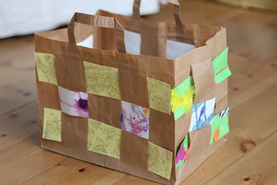 Easy Paper Bag Weaving Pinterest Trees Fine Motor And