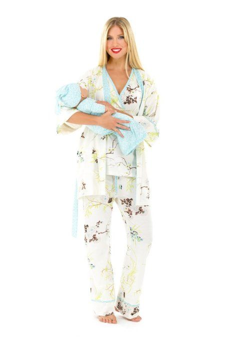 LOVE this!! The Olian 5pc. Nursing PJ Set w/ matching Baby Outfit ...