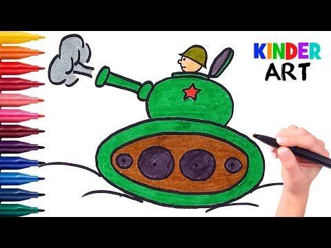 Kak Legko Narisovat Tank S Tankistom Rebenku Poetapno Video Dlya
