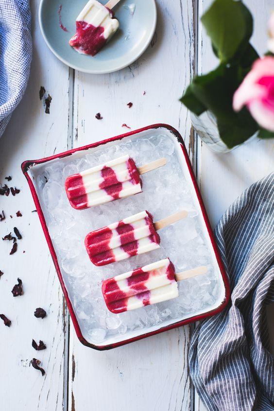 Hibiscus, Ice pops and Yogurt on Pinterest
