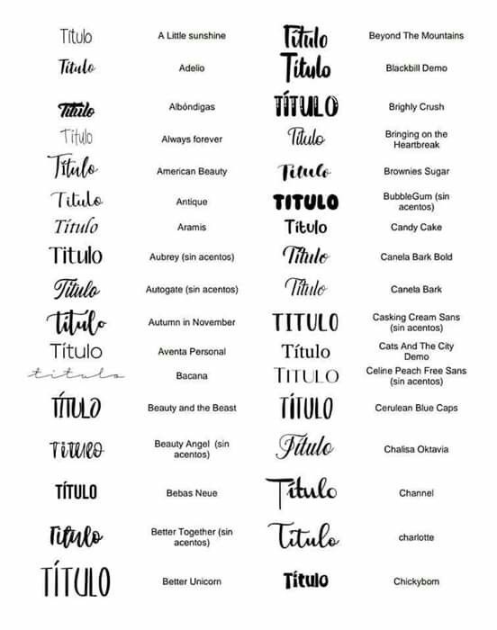 Tipos De Letras Tipos De Letras Letras Para Word Fuentes De Letras
