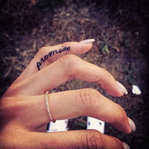 Best Short Life Quote Tattoos for Girls - Black Finger Short Life Quote Tattoos for Girls