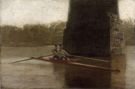 "Thomas Eakins, ""The Pair-Oared Shell"", ([1872), Philadelphia Museum of Art."