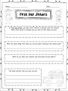FREE First Day Jitters | ThirdGradeTroop.com | Pinterest | Common ...