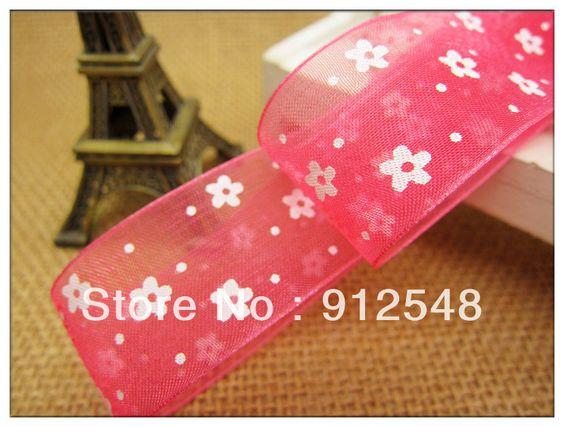 "Free shipping 1""(25mm)  wide nylon organza sheer ribbon flower sheer ribbon garment Ribbon wholesale retail , xhsd005-in Ribbons from Apparel & Accessories on Aliexpress.com $3.20"