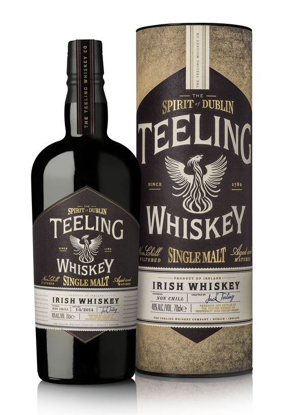 Teeling Single Malt Whiskey 70cl / 46% Single Malt Irish Whiskey Teeling's single malt contains whiskies aged for up to 23 years, which have been matured in a range of wine casks: sherry, port, Madeira, white Burgundy and Cabernet Sauvignon. A rich and spicy whiskey.