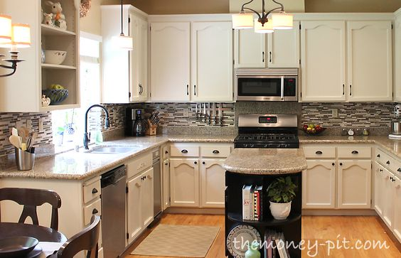 modern above cabinet decorating ideas