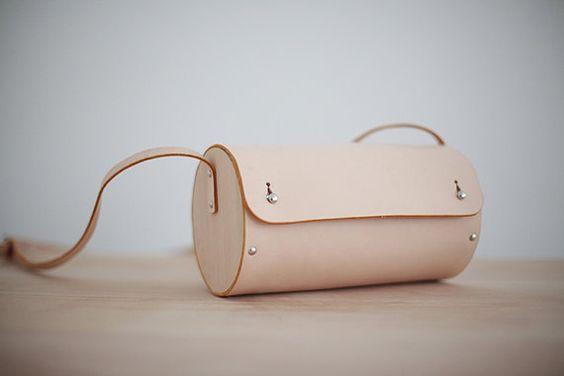 Sac cuirbois / cuir sac seau en bois / sac bandoulière / par ionnoi