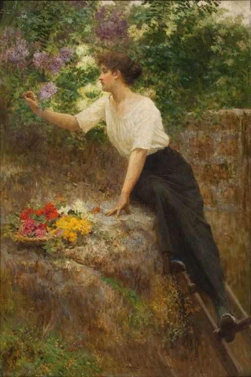 Vlaho Bukovac (Biagio Faggioni) (Croatian, 1855–1922) - In May, 1898