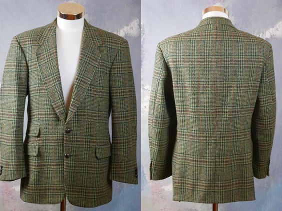 40 USUK 1980s Corduroy Blazer Size Large Dark Navy Blue Cotton Cord Three-Button Single-Breasted German Vintage Retro Jacket