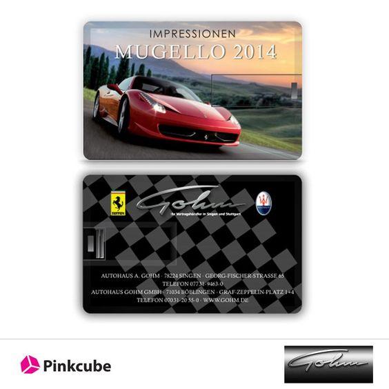 Hochwertig bedruckte Credit Cards USB-Speicher wurden an das Autohaus Gohm versandt