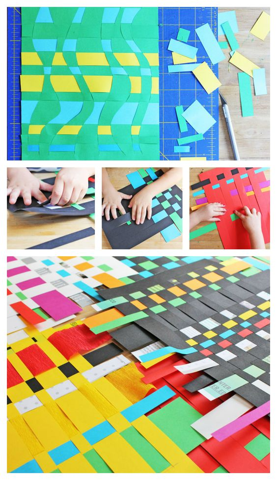 Art For KidsPaper Weaving Paper weaving, Activities and Craft - artistic skills