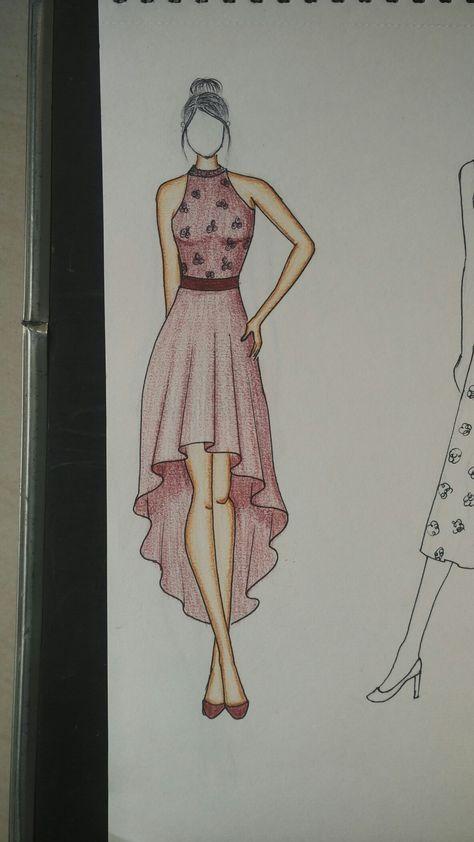 fashion sketches dress design drawing