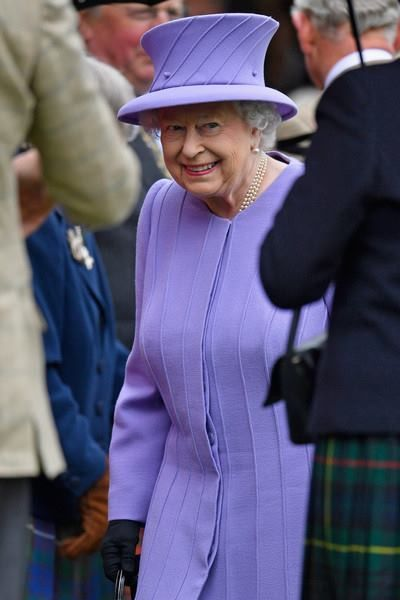 Queen Elizabeth II arrives at the Braemar Gathering on September 3, 2016 in Braemar, Scotland.