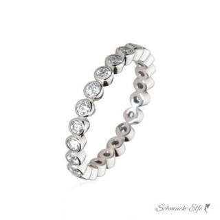 Silberring Infinity GLAM Zirkonia aus 925 Silber im Etui