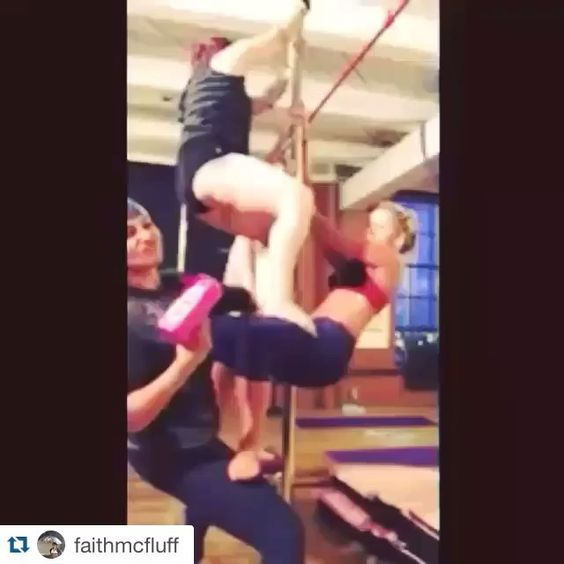 The next 4 week Twerkshop Series starts Thursday September 3rd at 8pm!  #Repost @faithmcfluff with @repostapp.  What's better than one lady twerking on a pole? Four ladies twerking on a pole. A first time ever in#twerkshopfitness! #stackingass #acroyoga#acrotwerkin#twerkshop#twerkqueen#pole#poledance#clevelandexoticdance#clevelandlove #cashcannon#moneygun#twerktrick#grouptwerk
