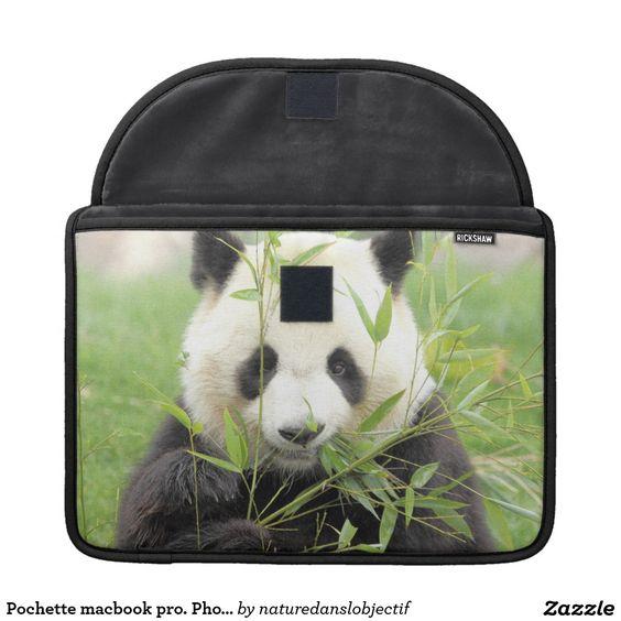 Small pocket macbook pro. Photographs giant panda MacBook Pro Sleeves