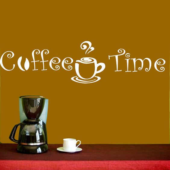 Vinyl Decals  Coffee Time Cup Beans Quote Home Wall  by BestDecals, $17.99