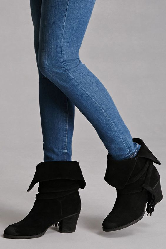 FOREVER 21+ Sbicca Tasseled Booties