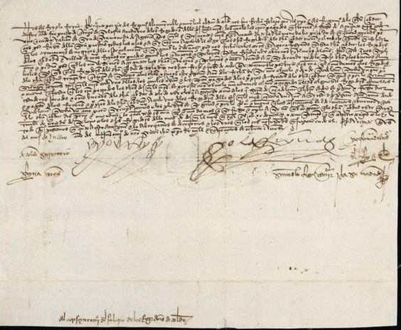 Albalá de los Reyes Católicos de 1.490 / Laminario del Archivo Municipal de Toledo