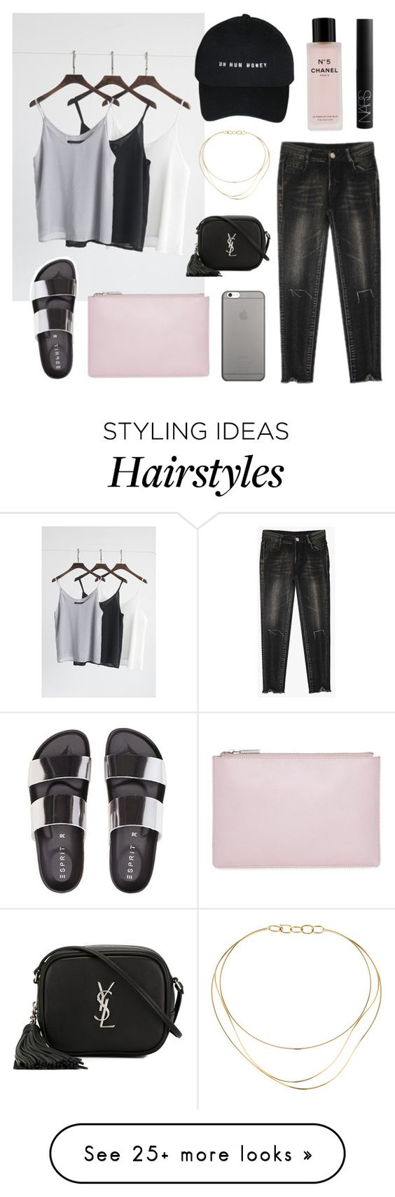 """misfits"" by jesicacecillia on Polyvore featuring Native Union, Whistles, Chanel, Tiffany & Co., Yves Saint Laurent and NARS Cosmetics"