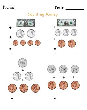 Counting Dollars and Cents Printable Worksheets. Give a like for ...