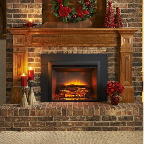 Wall Mounted Electric Fireplace Insert Only In 2020 Wall Mount