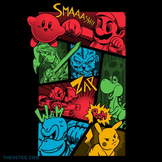 Smash64 By Adam, today at The Yetee!