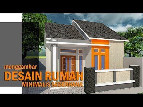Menggambar Desain Rumah Sederhana Khas Rumah Di Kampung Ukuran 6 X 9 Youtube Rumah Desain Rumah Arsitektur Modern