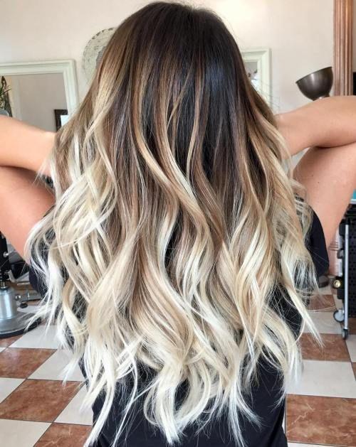 Blonde highlights in braunen haaren