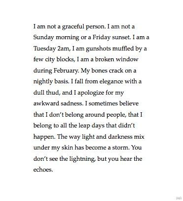 This sounds so much like me on the inside especially in my darkness (cold fall/winter) months!
