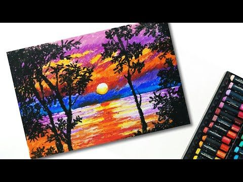 Oil Pastel Drawing Of Nature For Beginners Easy Drawing Tutorials Landscape Drawing Youtube Oil Pastel Paintings Oil Pastel Drawings Oil Pastel Art