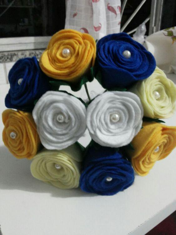 Buquê de noiva - Rosas em feltro