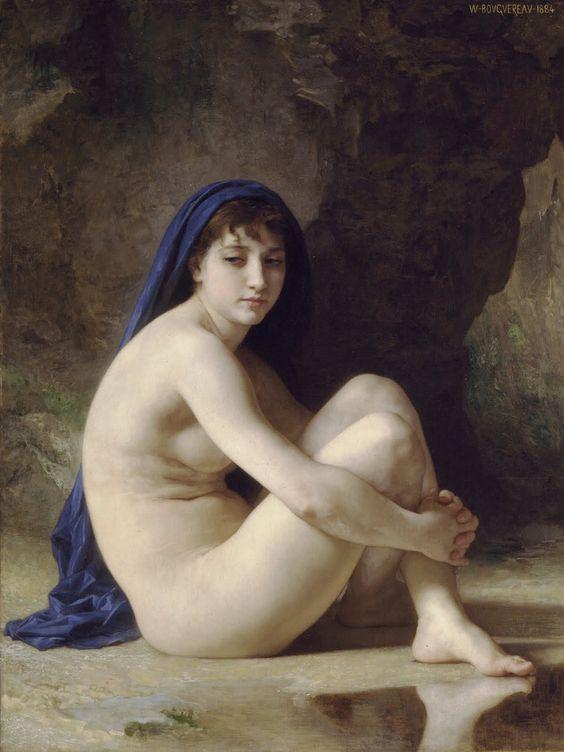 William Adolphe Bouguereau - Seated Nude [1884]