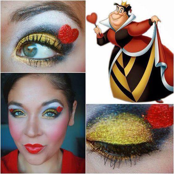 maquillaje reina de corazones | maquillaje | pinterest | costumes