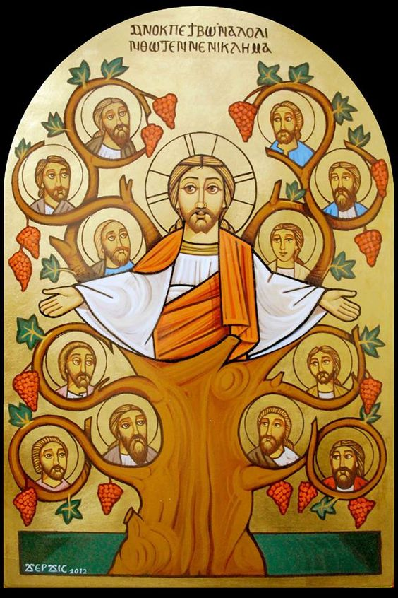 Tree of Life #Jesus #Disciples #Coptic Icon: