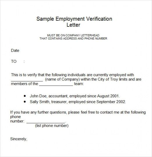 Editable Free 17 Employment Verification Letter Templates In Pdf Proof Of Employment Letter T In 2021 Letter Template Word Lettering Employment Verification Letter
