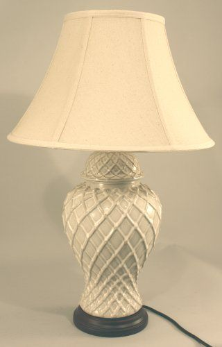 Diamond Pattern Cream Ceramic Table Lamp by marymarygardens, http://www.amazon.co.uk/dp/B00IKFQ0U6/ref=cm_sw_r_pi_dp_Cbgqtb0CFXXF4