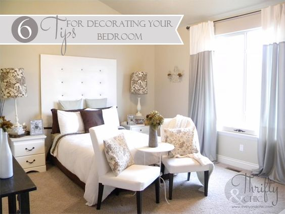 6 tips for decorating your bedroom from thrifty and chic for Decorate your bedroom online