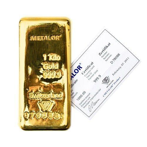 Metalor 1 Kilo Gold Bar Bullionrock Gold Coin Price Gold Price Chart Gold Bar