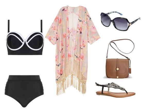 """""""A beach day"""" by nathalye-1 on Polyvore featuring Cactus, Melissa McCarthy Seven7 and Avenue"""