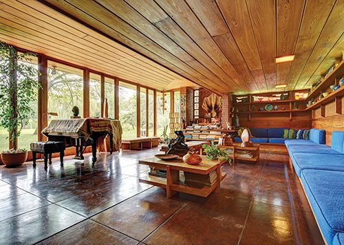 Detroit Home Magazine - The Good Earth - A Glorious Bloomfield Hills Design by Frank Lloyd Wright