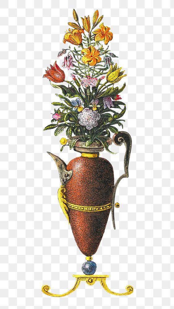 Medieval Floral Vase Badge Png Transparent Background Free Image By Rawpixel Com Aom Woraluck Floral Vase Transparent Background Free Illustrations