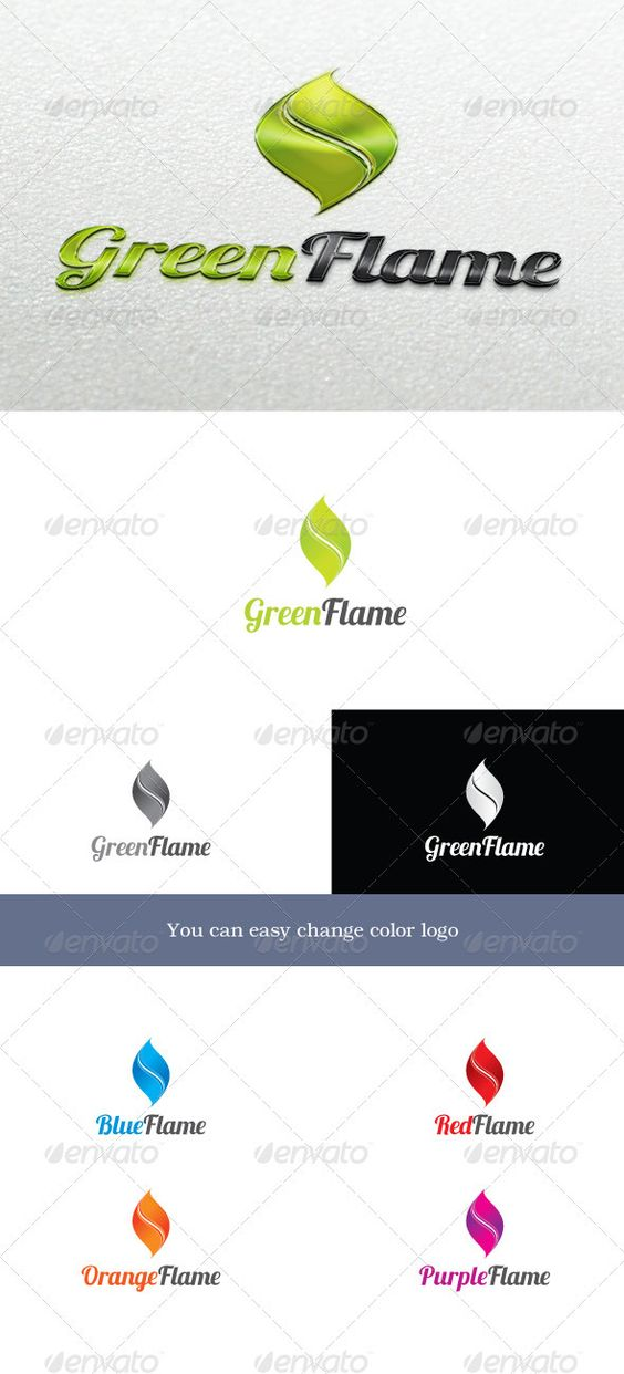 GreenFlame Logo  #GraphicRiver         GreenFlame  	 Logo symbolizes fire and is not tied to the color. Depending on the color, it can symbolize different ideas. For example green flames – the environment, natural resources, etc. Blue – hydro energy, communications and hydrogen or something else.  	 You can easy change color for logo.  	 Font used: lobster –  .dafont /lobster.font  Unique Logos   Badges       Created: 8October12 GraphicsFilesIncluded: PhotoshopPSD #TransparentPNG #VectorEPS…