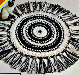 NEW! Hairpin Lace Circular Rug pattern from Things to Knit & Crochet, Leaflet 2576.