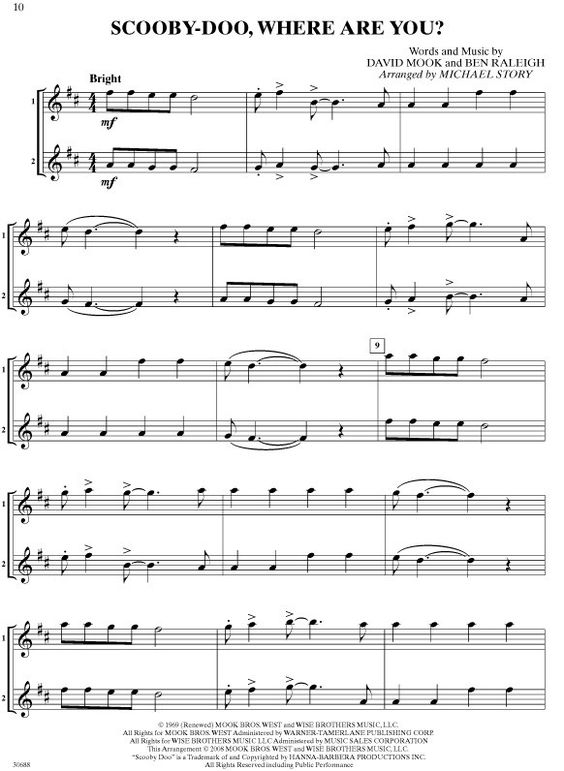 Scooby doo sheet music pinterest violin scooby doo for Classic house music songs