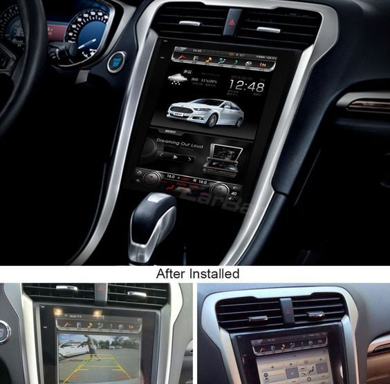 12 1 Tesla Style Vertical Screen Android Navigation Radio For
