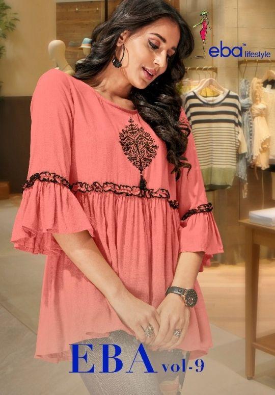 Eba Lifestyle Vol 9 Reyon Designer Short Top Collection Supplier 1 Clothes For Women Short Tops Tops