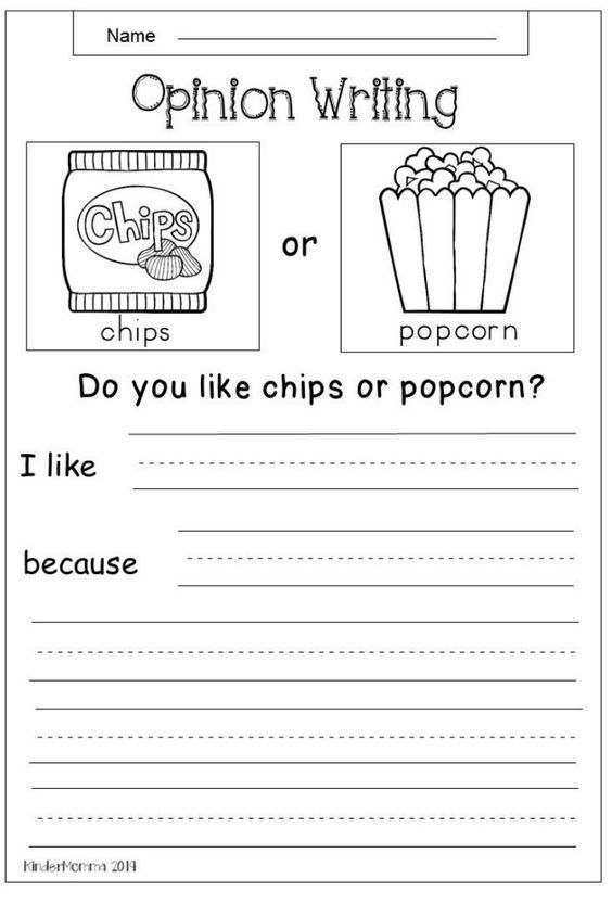 In This Free Opinion Writing Worksheet Students Will Choose Between Chips And Popcorn And Write Rea Elementary Writing Persuasive Writing Second Grade Writing 2nd grade writing worksheet