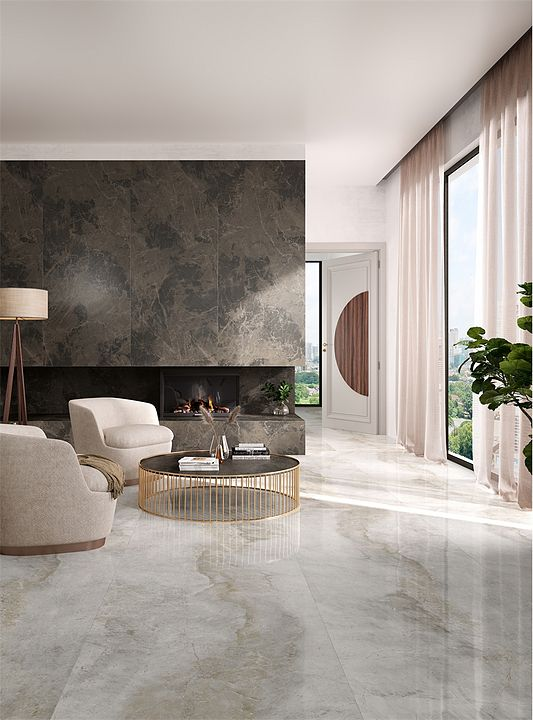 Gallery Of Porcelain Tiles Kalesinterflex Marbles 1 Marble Living Room Floor Living Room Tiles Tile Floor Living Room